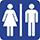 Bild som visar skylt om toaletter