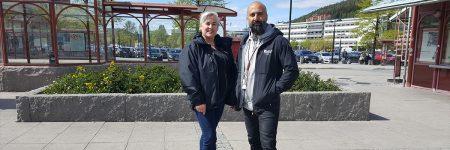 Anette Berlin och Nijad Farhang