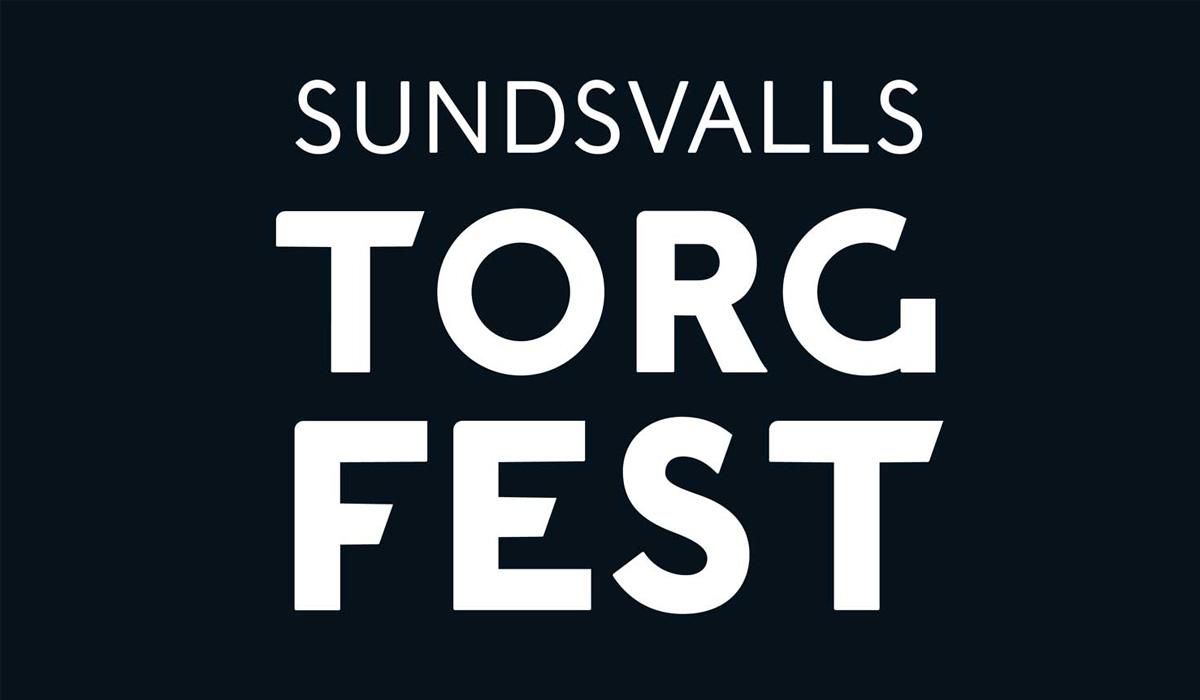 Dekorativ bild av Sundsvalls torgfest